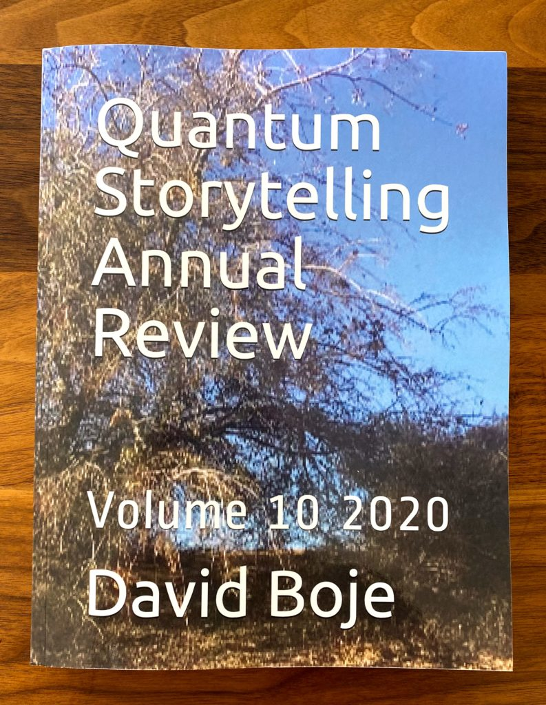 Cover of the Quantum Storytelling Review 2020